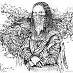 Mona Lisa Coloring Pages by karlkaniart