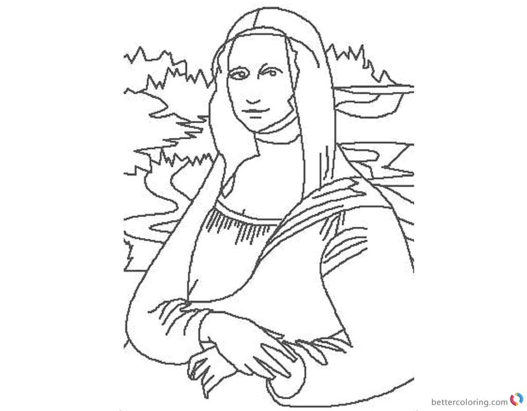Mona Lisa Coloring Pages Free Printable Coloring Pages
