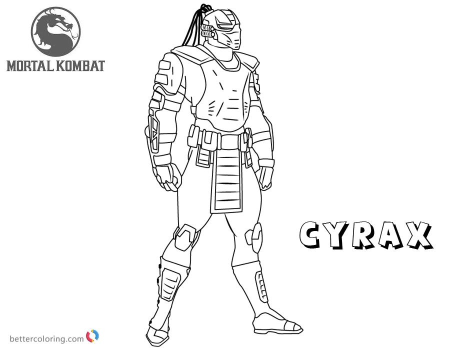 Mortal Kombat Coloring Pages Cyrax