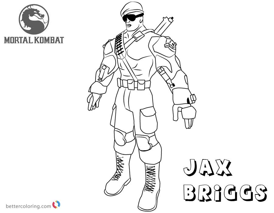 Mortal Kombat Coloring Pages Jax Briggs - Free Printable ...
