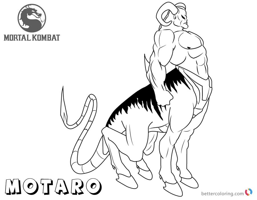 Mortal Kombat coloring pages Motaro free andprintable