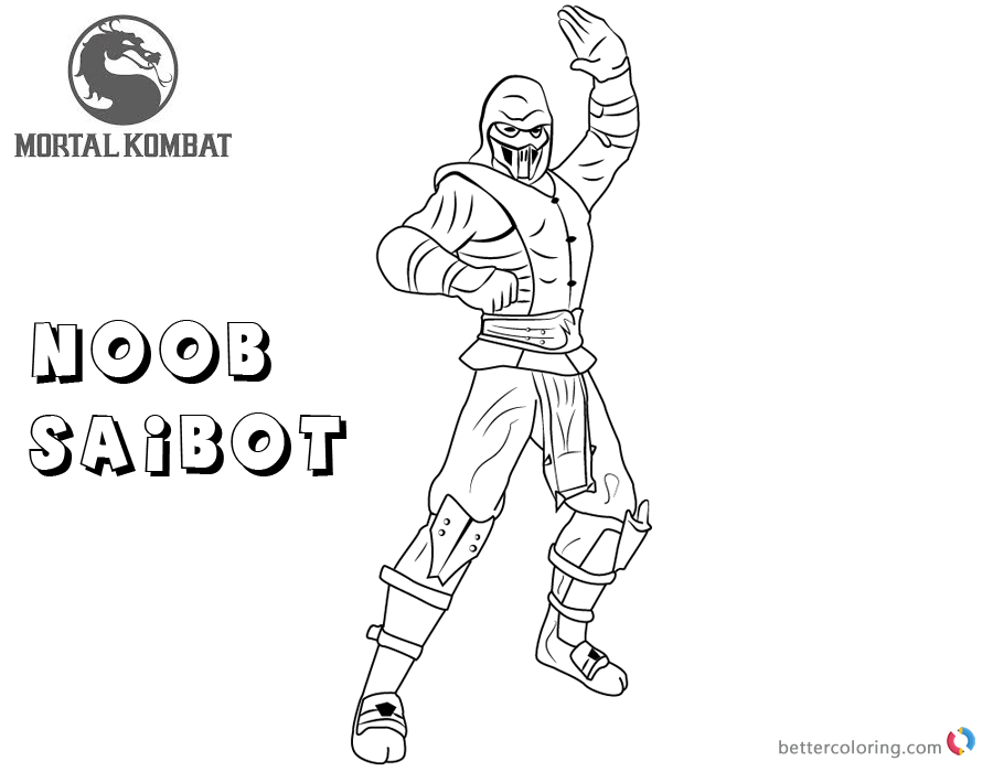 Mortal Kombat coloring pages Noob Saibot free andprintable