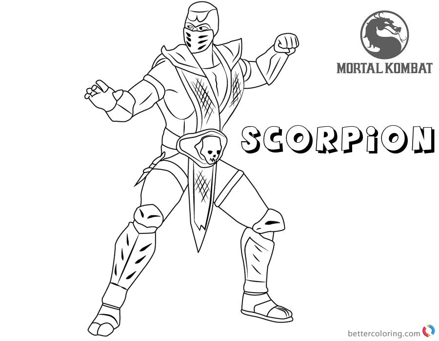 Mortal Kombat Coloring Pages Scorpion - Free Printable ...