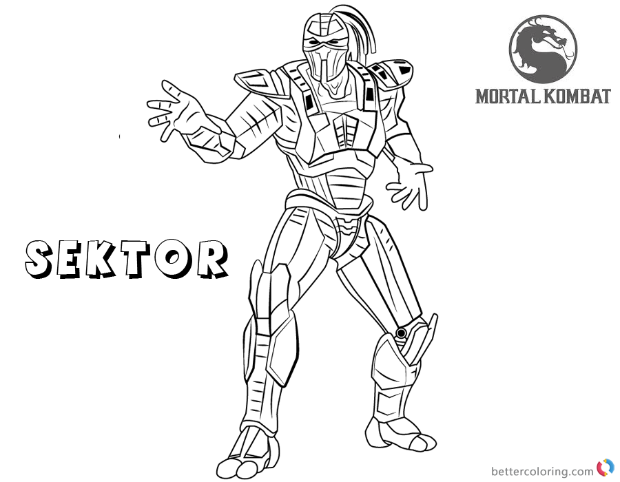 Mortal Kombat Coloring Pages Sektor