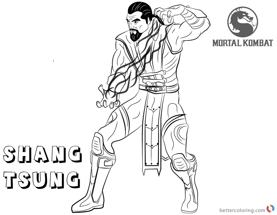 Mortal Kombat Coloring Pages Shang Tsung Free Printable