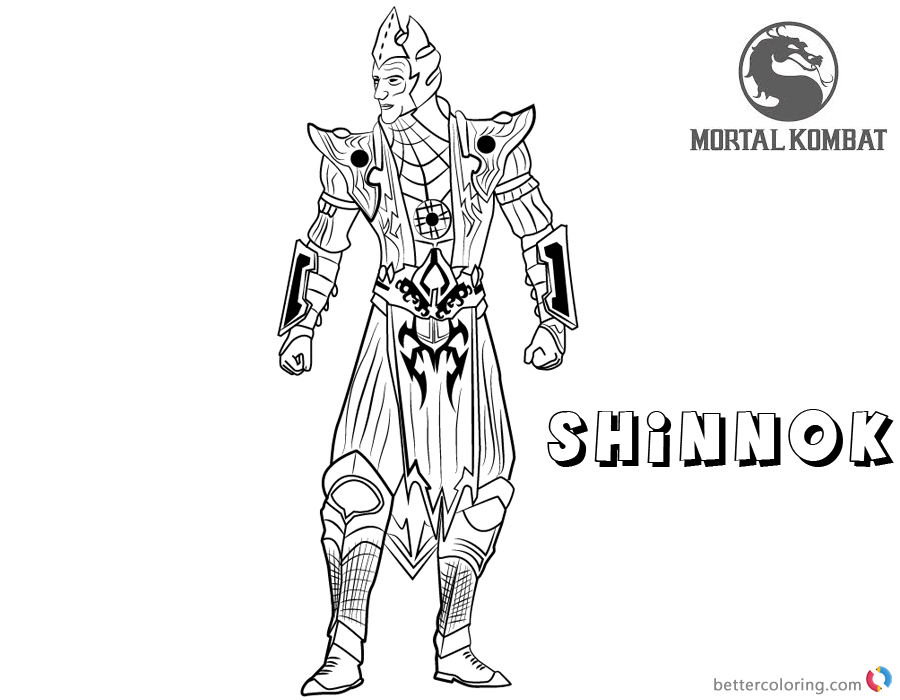 Mortal Kombat Coloring Pages Shinnok Free Printable