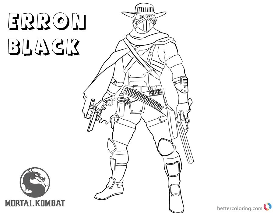 Mortal Kombat X Coloring Pages Erron Black   Free Printable Coloring Pages