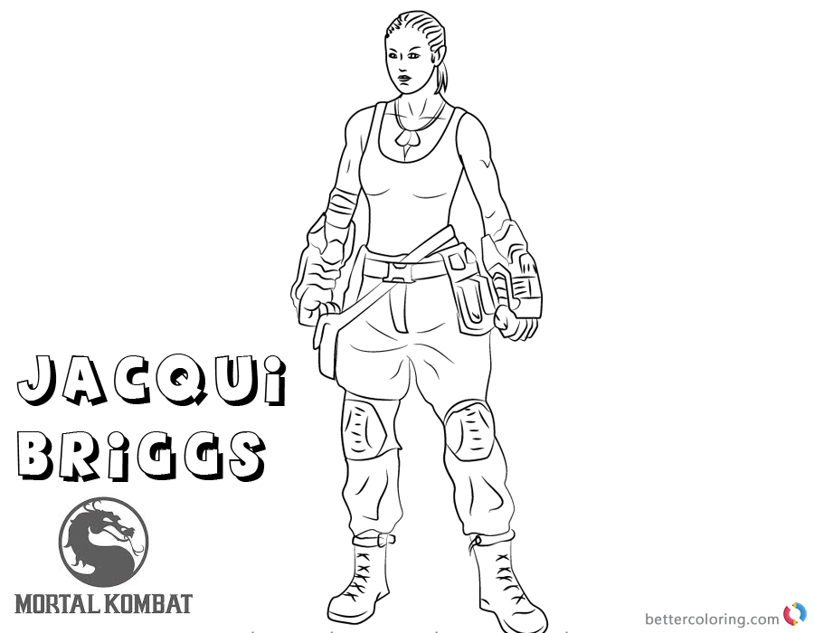 mortal kombat x coloring pages jacqui briggs