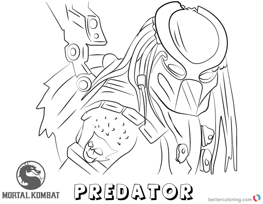Mortal Kombat X coloring pages Predator free andprintable
