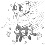 Nyan Cat Coloring Pages Chibi vs Tac Nyan