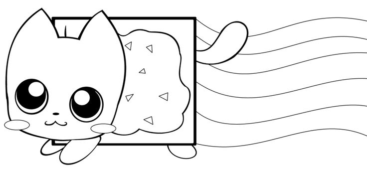 Nyan Cat Coloring Pages Clipart printable