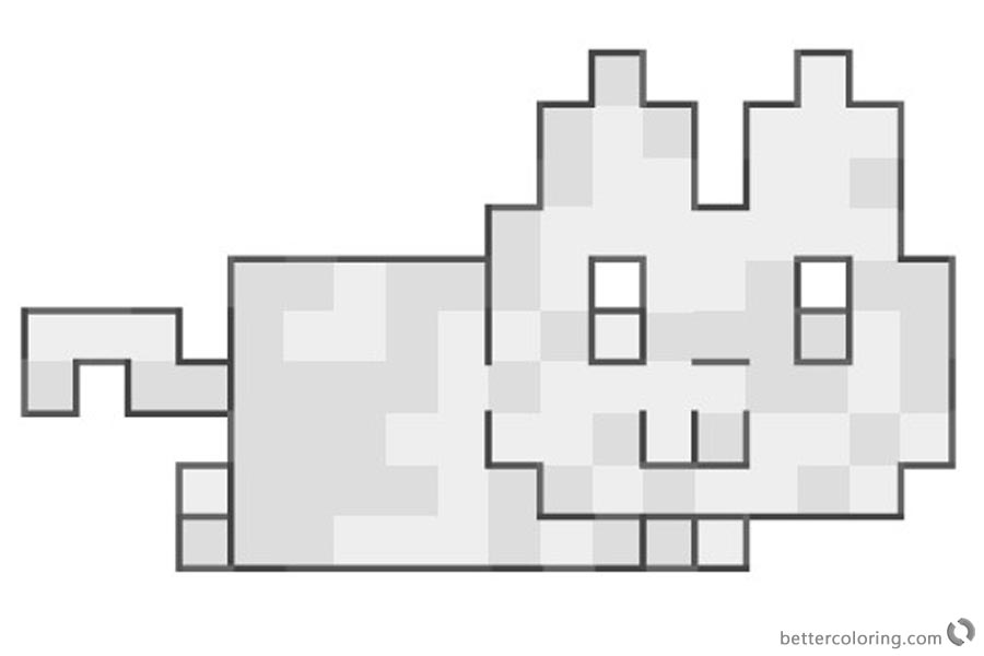 Nyan Cat Coloring Pages Tank trouble stage printable