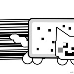 Nyan Cat Coloring Pages UPC Art by KayFriday