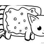 Nyan Cat Coloring pages Big one