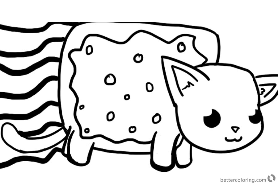 Nyan Cat Coloring pages Big one printable