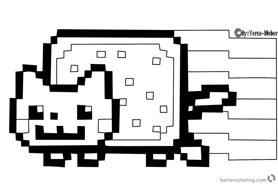 Nyan Cat Coloring pages By Vero