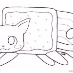 Nyan Cat Coloring pages Clipart By Kitty