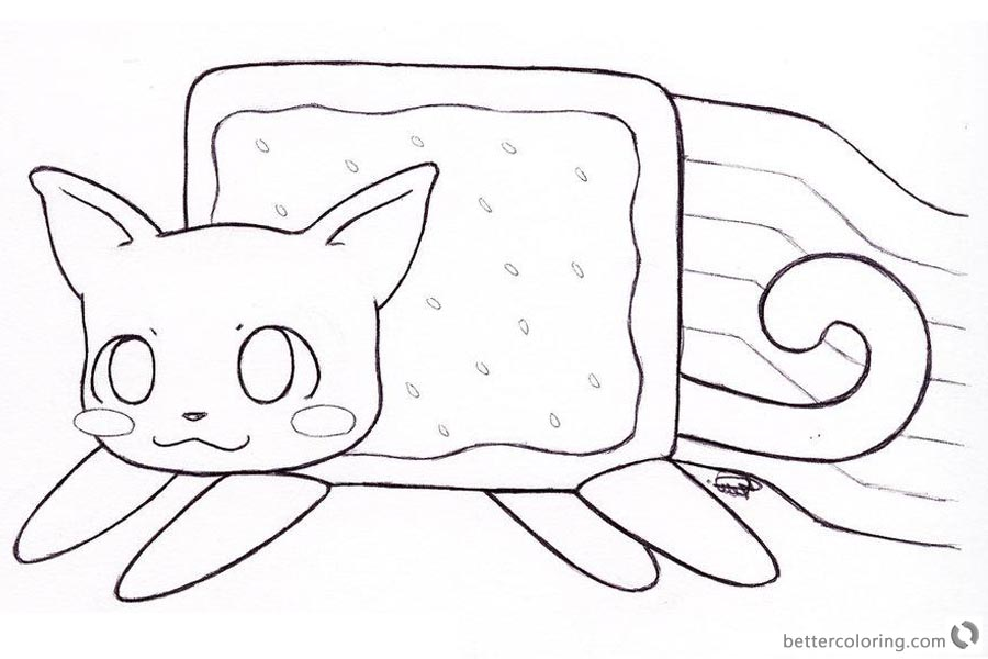 Nyan Cat Coloring pages Clipart