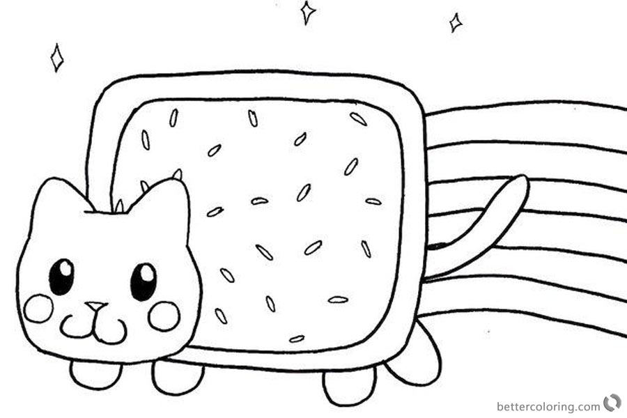 Nyan Cat Coloring Pages Fan Art