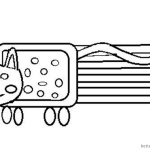 Nyan Cat Coloring pages Funny Drawing