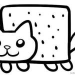 Nyan Cat Coloring pages Simple Clipart