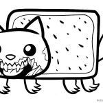 Nyan Cat Coloring pages Zombie Cat