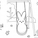 Peeps Coloring Pages Bunny Play Swing