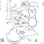 Peeps Coloring Pages Bunny and Chick