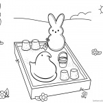 Peeps Coloring Pages Bunny is Playing Sand