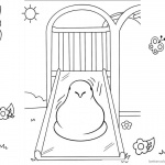 Peeps Coloring Pages Chick Playing Slide