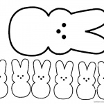 Peeps Coloring Pages Clipart Senven Easter Bunnies