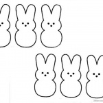 Peeps Coloring Pages Clipart Six Lovely Bunnies Clipart
