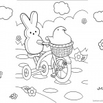 Peeps Coloring Pages Lineart Cycling