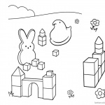Peeps Coloring Pages Play Toy Bricks