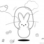 Peeps Coloring Pages Playing Rope Skipping