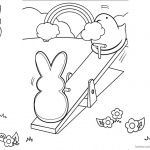 Peeps Coloring Pages Playing Seesaw