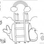 Peeps Coloring Pages Playing Under the Rainbow