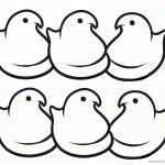 Peeps Coloring Pages Simple Six Chicks Line Art
