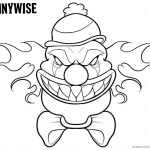 Pennywise Coloring Pages Draw Chibi Pennywise