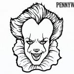 Pennywise Coloring Pages How to Draw Pennywise The Clown From IT