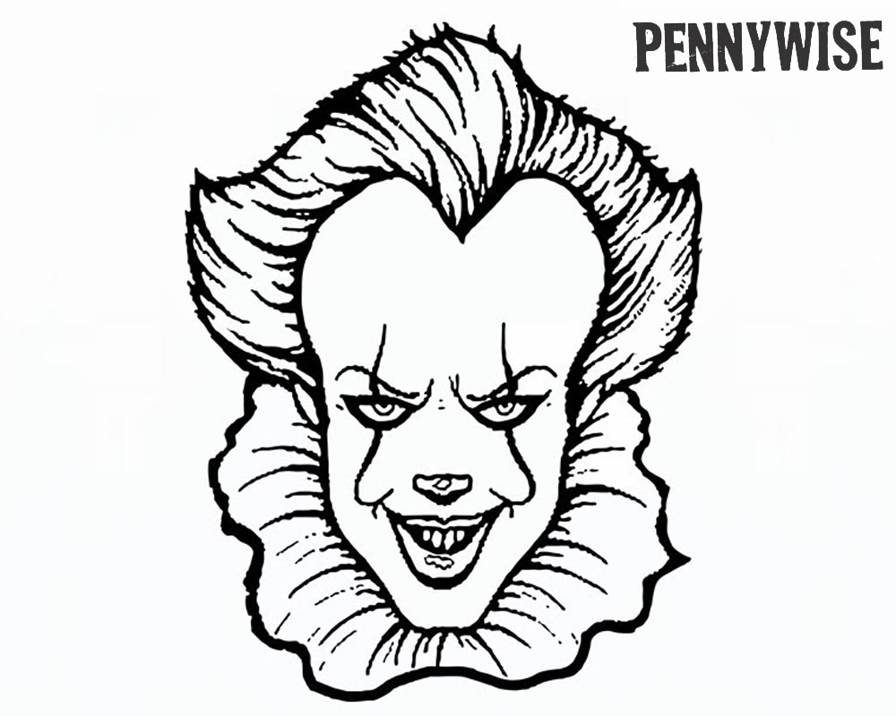 Pennywise Coloring Pages How to Draw Pennywise The Clown From IT ...