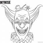 Pennywise Coloring Pages with A Small Hat