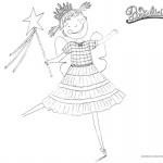 Pinkalicious Coloring Pages Happy Dancing