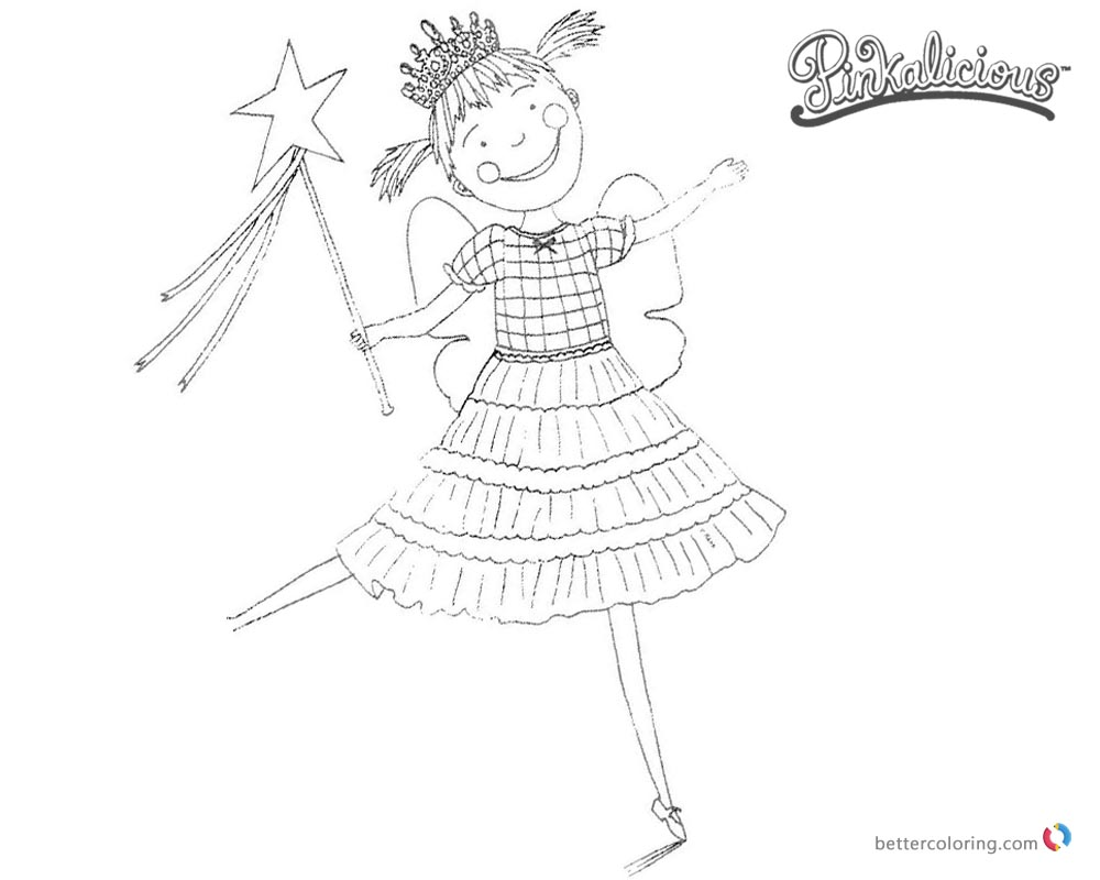 Pinkalicious Coloring Pages Happy Dancing - Free Printable Coloring ...