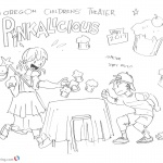 Pinkalicious Coloring Pages Kids Fanart Run for Cupcake