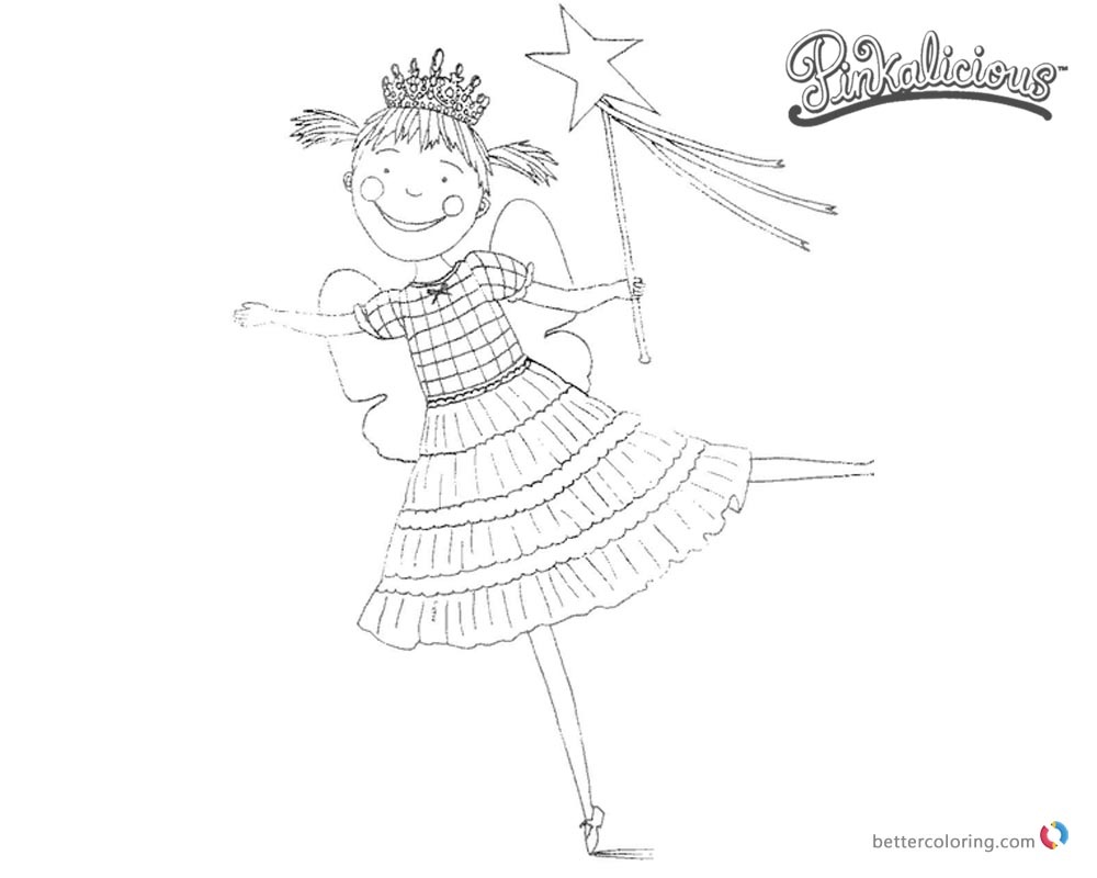 free pinkalicious coloring pages | Smile Pinkalicious Coloring Pages - Free Printable ...
