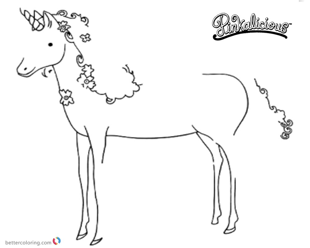 Pinkalicious Coloring Pages Unicorn Pet printable