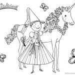 Pinkalicious Coloring Pages Unicorn and Butterflies