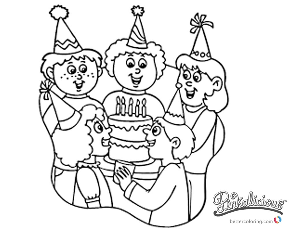 Pinkalicious Coloring Pages birthday