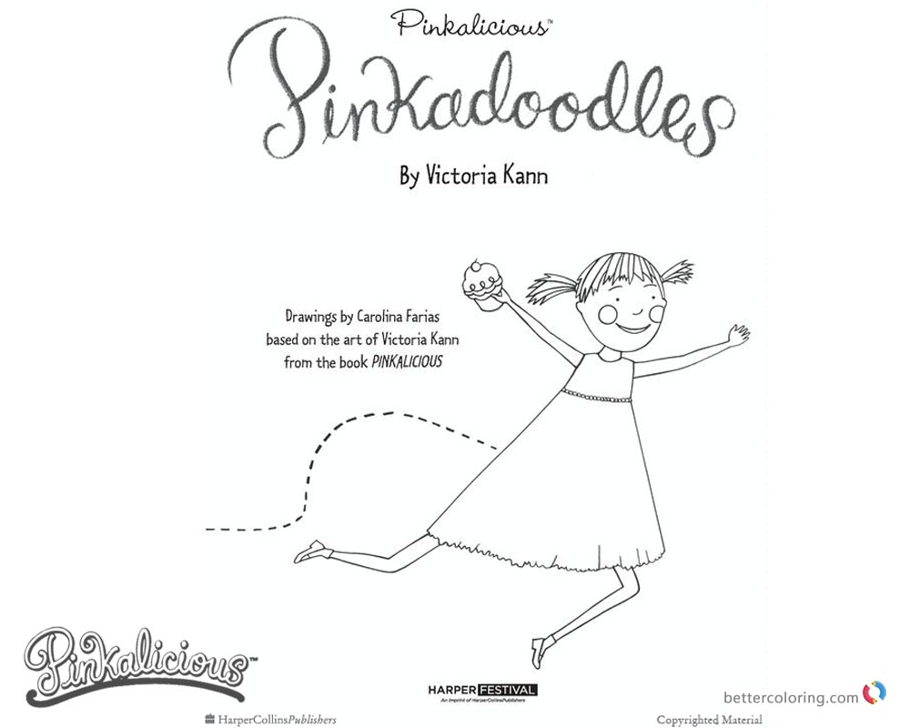 Pinkalicious Coloring Pages Kids Art holly hobbie pictures coloring ...